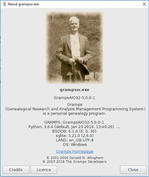 Gramps 5 0 Wiki Manual - About - Gramps