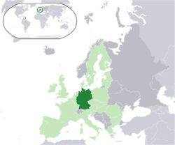 Location of Deutschland
