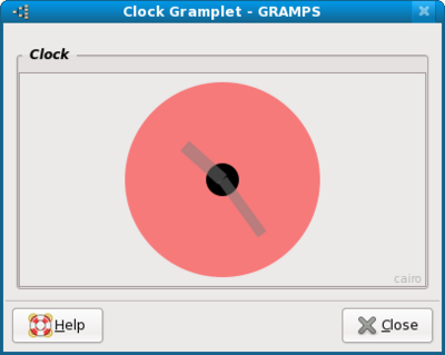 Clock Gramplet detached